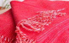 plaid rood wol shimmer klippan