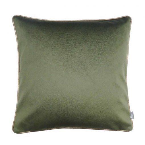 groen kussen handgemaakt Raaf soft