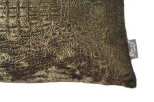 kussenhoes groen reptiel