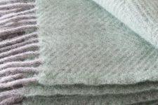 mintgroene plaid wol visgraat