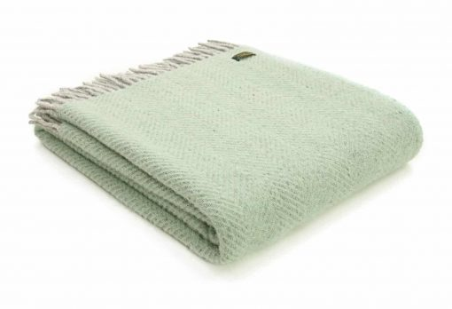 plaid groen wol zachtgroen