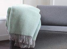 plaid groen mintgroen wol visgraat