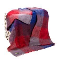 plaid rood blauw mohair wol