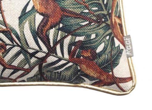 sierkussen groen apen bladeren