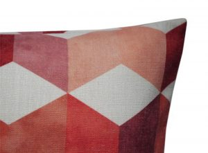 rood tuinkussen outdoor blokprint