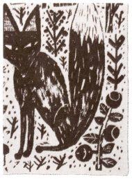 donkerbuine deken kinderdeken wol vos bos uil
