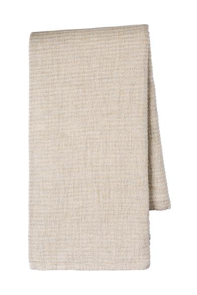 sprei grand foulard beige katoen