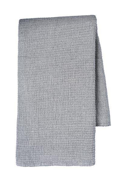 sprei grand foulard grijs blauw katoen