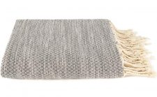 grijs plaid grand foulard sprei