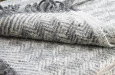 grijze plaid wol klippan lamswol tage