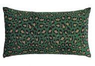 kussen groen luipaard essenza