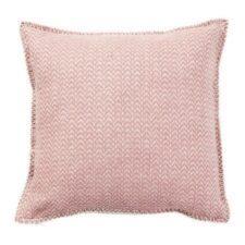 kussen roze lamswol klippan chevron