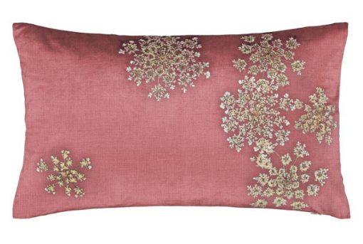 kussen roze bloemen wit essenza