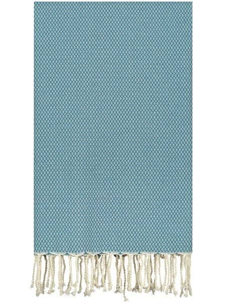 plaid blauw petrol katoen grand foulard sprei