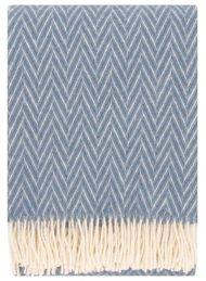 plaid blauw wol visgraat grijsblauw