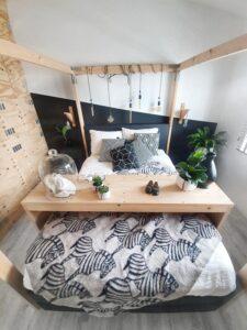plaid deken zebra wol