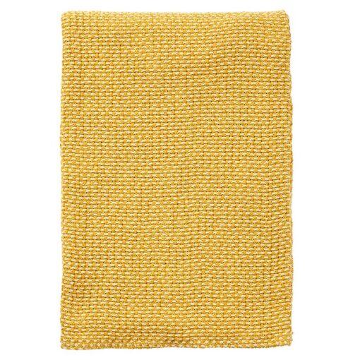 plaid geel katoen klippan basket