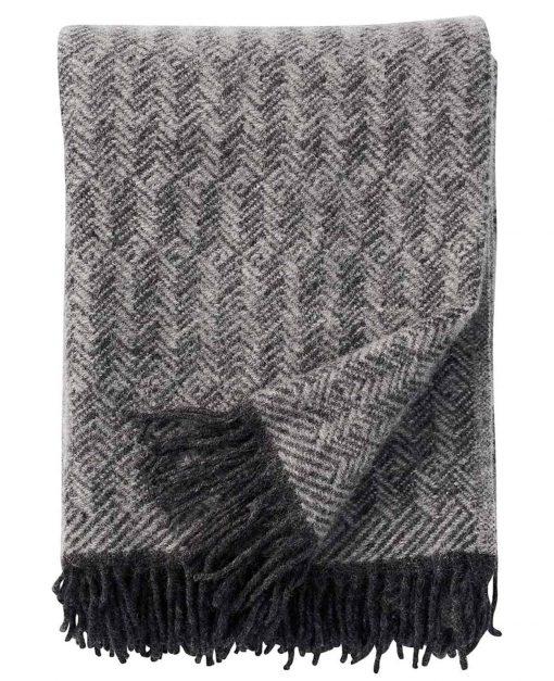 plaid grijs lamswol klippan tage