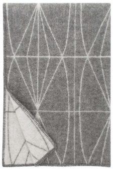 grijze plaid wol lijnen