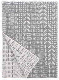 plaid grijs wit wol