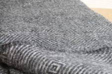 plaid grijs wol klippan