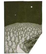 plaid groen lamswol bos house forest klippan