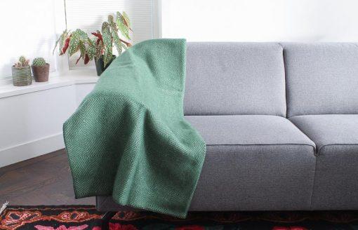 plaid groen donkergroen klippan wol