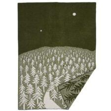 plaid groen lamswol klippan house forest