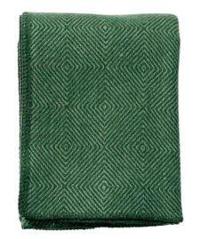 plaid groen lamswol diamant klippan