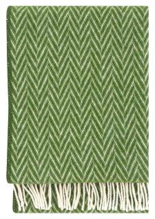 plaid groen wol visgraat