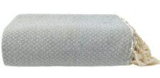 plaid lichtgrijs ottoman katoen sprei grand foulard