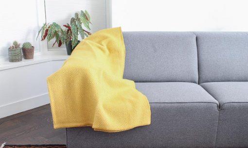 plaid okergeel klippan geel