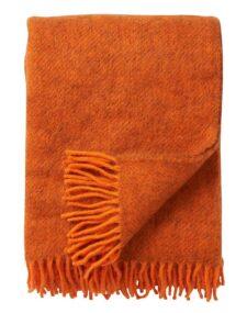 oranje plaid gotland wol effen