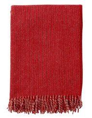 plaid rood lamswol klippan