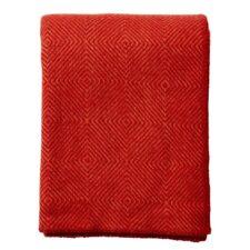 plaid rood lamswol klippan nova