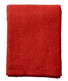 plaid rood lamswol klippan diamant