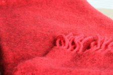 plaid rood wol klippan gotland