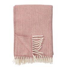 plaid roze lamswol klippan chevron