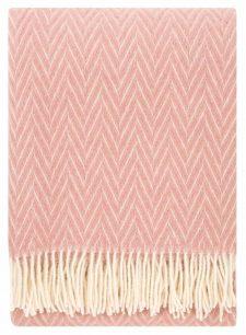 plaid roze wol visgraat