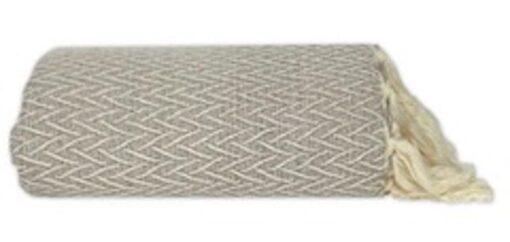 plaid taupe katoen zigzag