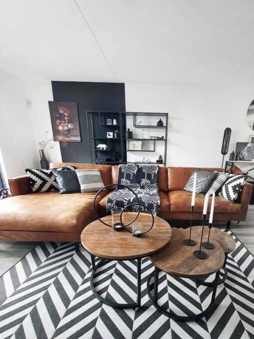 plaid wol zebra zwart wit