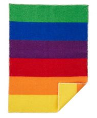 wiegdeken wol rainbow regenboog klippan