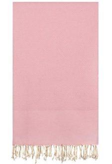 roze plaid grand foulard oudroze katoen
