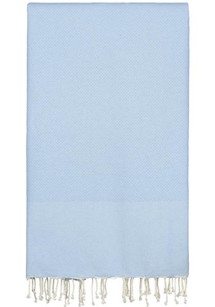 lichtblauwe plaid grand foulard katoen