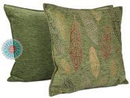 kussens groen meubelstof veren effen