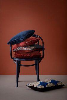 rode en blauwe kussens velvet velours