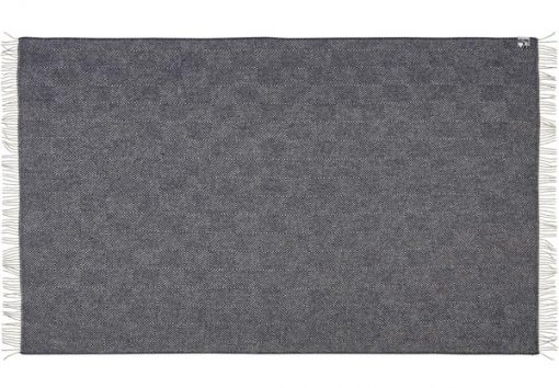 plaid zwart deken visgraat wol silkeborg uldspinderi