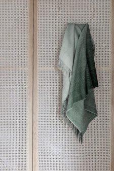 plaid donkergroen alpaca wol
