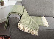 plaid groen visgraat wol