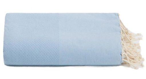 plaid lichtblauw grand foulard katoen